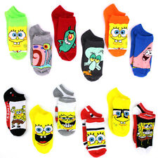 Spongebob Boys 6 pk Ankle Socks 1492QH 9712QH 4-6 6-8