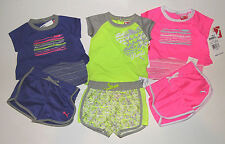 PUMA  Girls 2 Piece Short Outfit Set INFANT Girl  12M , 18M or 24M NWT