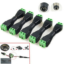 Wholesale Male / Female DC Power Jack Adapter Connector Plug For Led Strip #TM