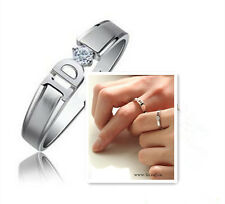 S925 Sterling Silver Unisex Unique Design Ring/18K GP/Can Be Couples' Ring Set