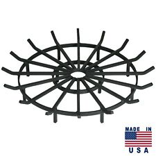 Heavy Duty Wagon Wheel Firewood Grate for Fire Pit - Made in USA