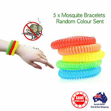 Anti Mosquito Insect Repellent Wrist Hair Band Bracelet Bug Camping Outdoor 5pcs