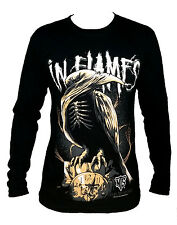 In Flames fashion graphic rock band long sleeve t-shirt tee top Size M Size M L