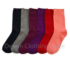 6-12 pairs Cute Winter Fashion Solid Mix Colors Crew Cotton Socks Warm Xmas Lot