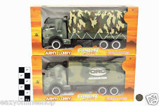 Army Lorry Military Truck Friction Power realistic Big Die cast Vehicle Gift Toy