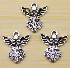 15/30/100 pcs  Very beautiful Tibet silver  bowknot wings charm pendant 27x23 mm