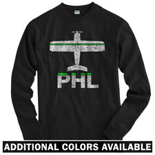 Fly Philadelphia PHL Airport Long Sleeve T-shirt LS - Philly PA Jet Men / Youth