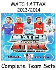 Match Attax 13/14 Full Team Base Sets + Manager 17 cards Topps 2013/2014 13 14