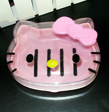 New Sweet HelloKitty Head Soap Holder / Case : Clear Face aa-1012