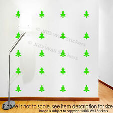 20 X Merry Christmas Tree Wall Stickers Xmas Shop Window Decor Vinyl Wall Decals