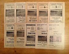 Cardiff Rugby Programmes 1958 - 1979