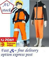 AU stock !!! Naruto Uzumaki 2nd Naruto Shippuden Cosplay Costume Anime set
