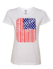 American Flag Women's T-Shirt US Flag Aztec Design 4th Of July Patriotic USA