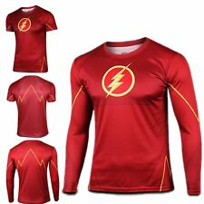 HOT Superhero Marvel Costume Cycling Tee T-Shirts Bicycle Sports Jersey Flash