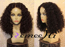 Middle part curly wig 100% human remy hair front/full lace wigs many length hot