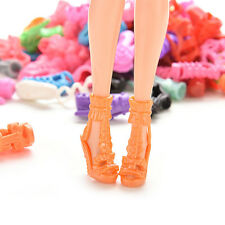 15/30/60 Pairs Doll Shoes Multiple Styles Heels Sandals For Barbie Dolls CMO34