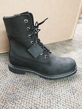 Men's Timberland Heritage Fold-Down Warm Fleece Lined Boot Black Roughcut A119A