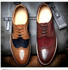 Fashion Mens Wing Tip Lace up Oxfords  Brogue Dress Formal casual Shoes
