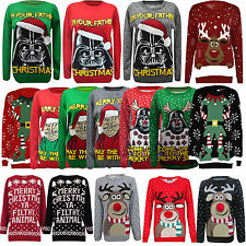 NEW LADIES WOMENS MENS XMAS CHRISTMAS NOVELTY VINTAGE 3d JUMPER RETRO SWEATER