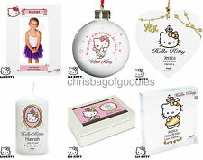 PERSONALISED HELLO KITTY Novelty Gifts Present for Her Girls Birthday Keepsake
