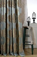 NEW Jacquard Embossed Floral Cotton linen Custom Made Curtain bedroom Curtains