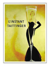 L'instant Taittinger Champagne Grace Kelly Mermaid Dress Vintage-Style Poster