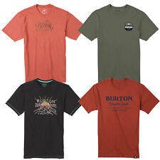 Burton men's T Shirt Cotton Short Sleeved Logo Road Trip Classic Mountain Script