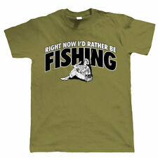 Right Now, I'd Rather Be Fishing Funny, Mens T Shirt - all sizes inc 4XL 5XL