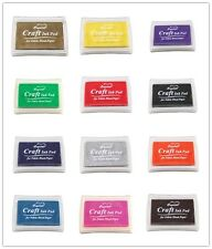Craft Ink Pad for Paper Wood Fabric 15 Colors Available for Rubber Stamps CN