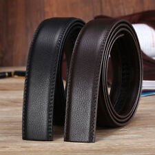 New Genuine Leather Mens No-Automatic Buckle Style Dress Strap Waist Belts 130cm