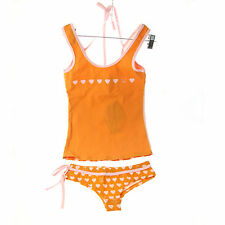 Julius & Friends Paul Frank $47 Pink Orange Hearts PJ Tank Top Panties Sleep Set