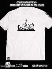 Vespa T Shirt - Medium to 5XL - EXCLUSIVE to Ska Shack - Scooter Clothing. White