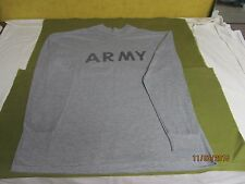 U.S. ARMY PT SHORT SLEEVE SS LONG SLEEVE T-SHIRT IPFU GREY POLYSTER
