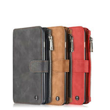 Genuine Leather  Zipper Wallet Card  Case Cover For Apple iPhone 6s 7  8  Plus