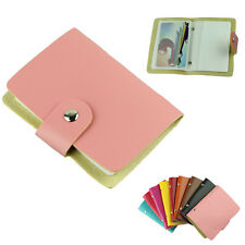 Korea Fashion Business Credit ID Card Holder Bags Leather Strap Buckle Bank Card