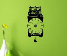 Wall Decal Clock Gladbeck city 55cmx125cm Wall Stickers Wall Stickers 1X295
