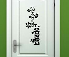 "Door Sticker ""Wasch Lounge"" Door Frame Decoration Bath Tattoo Sticker 3D800"