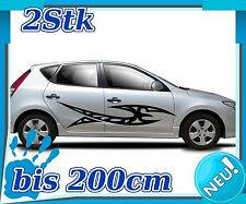 2x Sides Tribal Car Sticker, Tuning Tribal, Sports Racing,auto Sticker 2n233