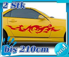2x Sides Tribal Car Sticker, Tuning Tribal, Sports Racing Auto Sticker 2n266