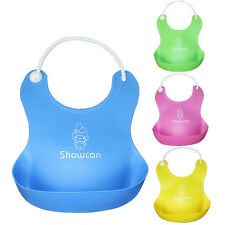 New Design Baby Infants Kids Cute Silicone Bibs Baby Lunch Bibs Cute Waterproof