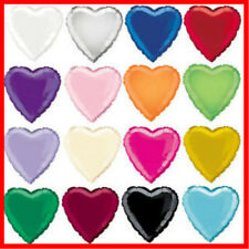 18 Inch/45.7cm Foil Heart Balloon - 14 Colours To Choose - Helium Metallic Party