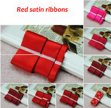 3pcs Different Width Wedding Party Craft Double Sided Satin Ribbons ManyColor 30