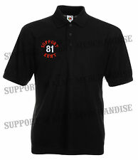 SUPPORT 81 KENT HELLS ANGELS ENGLAND Polo Work Shirt Embroidered BIG RED MACHINE