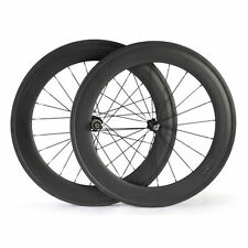 700C 23mm Width 88mm depth Clincher Carbon bicycle wheels Road Bike wheelset 700