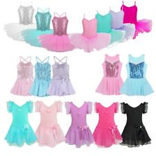 Girls Gymnastics Leotard Dress Toddler Ballet Dance Tutu Skirt Dancewear Costume