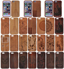 """Real Natural Bamboo Wood Wooden Hard Cover Case For iPhone 6 4.7"""" / 6 Plus 5.5"""""""