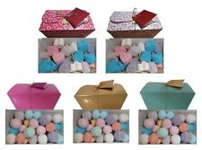 Bath Bomb Gift Box, freshly made in UK by Chikpe - mini round & heart bath bombs