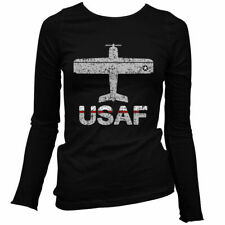 Fly USAF Air Force Women's Long Sleeve T-shirt LS - United States Pilot - S-2X