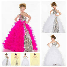 Flower Girl Dress Wedding Easter Junior Bridesmaid  Baby Party dress robe Gown-G