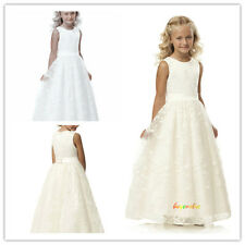 Formal Lace Baby Princess Bridesmaid Flower Girl Dresses Wedding Party Dress-G